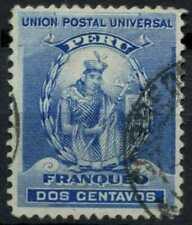 Peru 1896-1900 SG#337, 2c Blue, Atahualpa Used #E1256