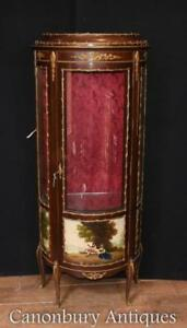French Display Cabinet - Antique Bijouterie Vernis Martin Kingwood
