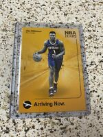 2019-20 Zion Williamson Panini NBA Hoops Arriving Now Rookie Card RC Pelicans