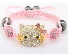 3pcs/lot 10mm pink micro pave Disco Ball bead Crystal Shamballa bracelet women