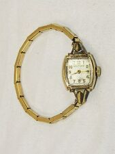 Vintage Ladies' WALTHAM 10K Gold Filled 17 Jewel Movement Wrist Watch - It Works