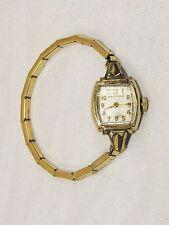 Vintage Ladies' WALTHAM 10K Gold Filled 17 Jewel Movement Wrist Watch - It Works