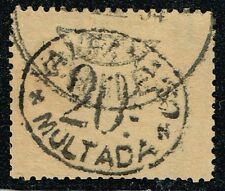 CHILE 1894 OFFICIAL POSTAGE DUE STAMP # 7 TYPE II USED MULTAS VALPARAISO