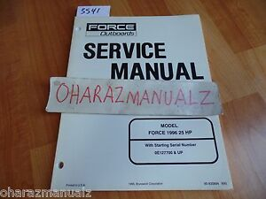 1996 Force Outboard Motors 25 HP Service Manual