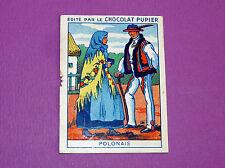 COSTUMES DIVERS PAYS POLONAIS POLOGNE CHROMO CHOCOLAT PUPIER JOLIES IMAGES 1930