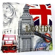 LONDON SCENE ABSTRACT PRINTED CUSHION COVER LONDON NOVELTY