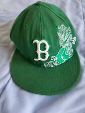 Boston Red Sox Green Ball Cap by New Era 59Fifty-Size 7 3/8