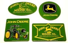 John Deere Set of 4 Collectible  Licensed Embossed Decorative Tin Fridge Magnets