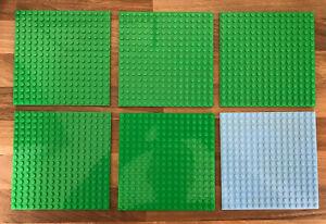 6 Lego Base Plates 16x16 Genuine Lego Friends City Lot Bundle Thick Green Grey