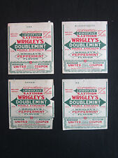 1920's Wrigley's Doublemint Gum Wrapper United Profit Sharing Coupon Attach x4