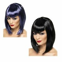 Adult Ladies Vamp Queen Temptress Wig Dracula Halloween Fancy Dress Accessory
