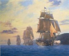 GEOFF HUNT HMS Agamemnon - Nelson's first flagship Signed Ltd Edition on Paper
