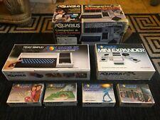 MATTEL AQUARIUS COMPUTER & GAME SYSTEM, W/KEYBOARD/EXPANDER & 4 GAME CARTS, NEW
