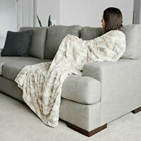 "Faux Fur Throw Blanket Large Warm Cozy Super Soft Throw 50"" x 60"" by Graced S..."