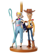 DISNEY TOY STORY 4 WOODY AND BO PEEP SKETCHMENT ORNAMENT NEW BOXED AUTHENTIC