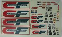TRUCK DECAL - CF CONSOLIDATED FREIGHTWAYS DOUBLES TRAILERS & TRUCK - 1/25