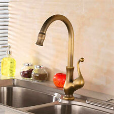 Vintage Style Kitchen Tap Pure Antique Copper Faucet Hot/Cold Sink Basin Faucet