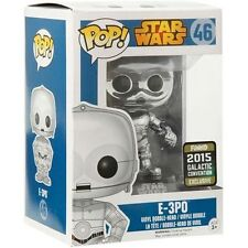 """GCE ESCLUSIVO Star Wars e-3p0 METALLICO 3.75 """" VINILE POP Statuetta Funko"""