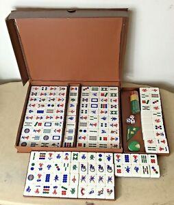 Mahjong 150 Tile Set + Carry Case + Accessories 26 grams tiles 36 x 16 x 16mm