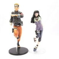 2 pcs Naruto Uzumaki & Hinata Hyuga Action Figures Set Japan Anime Statue Toy