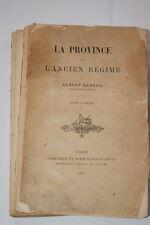 La Province sous l'Ancien Régime,Babeau-T1,1894