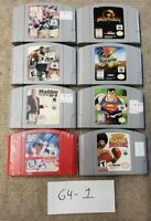 Lot Of 8 N64 Games Nintendo 64 Mortal Kombat 4, Vigilante V8, Ready 2 Rumble