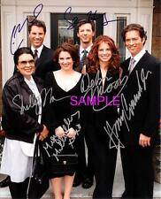 WILL AND GRACE CAST REPRINT 8X10 AUTOGRAPHED SIGNED PHOTO PICTURE COLLECTIBLE RP