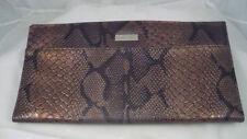VGC Miche medium sized purse shell faux snakeskin copper chocolate brown & black