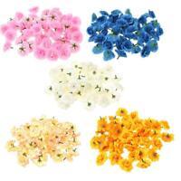 50pcs Artificial Silk Stapelia/Carnation Bridal Flower Heads for Clips Wedding