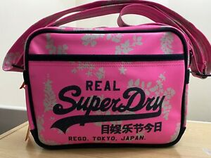 Superdry Mini Hampton Alumni Bag - Fluro Pink BNWT