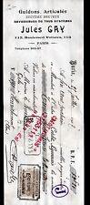 "PARIS (XI°) GUIDONS pour VELOS CYCLES ""Jules GAY"" en 1907"