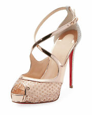 Christian Louboutin Mirabella 120mm Strappy Sequined Red Sole Sandals PUMPS 41.5