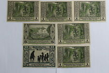 GERMANY LÄHN SERIE FROM A TO F & GRÜNBERG 7  BANKNOTES B19 #713