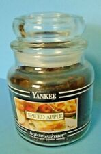 Yankee Candle Spiced Apple 14.5 Oz. Medium Round Jar Candle Black Bands