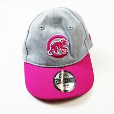 Infant Kids New Era 9Forty Adjustable Cap one size Chicago cubs gray pink mlb