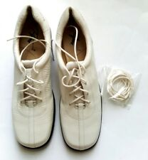 NEW ROS HOMMERSON WOMEN'S FLAT WHITE OR BLACK LEATHER LACE UP SHOES SIZE:7 4A
