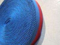 1 metro di nastro vecchio rosso e blu per medaglia carabinieri