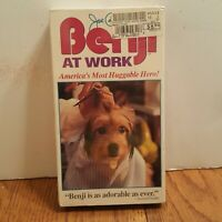 Benji At Work [Vhs Tape] New & Sealed Rare (Benji Behind The Scenes Documentary)