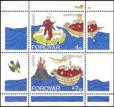 Faroe Islands/Faroes 1994 Europa/St Brendan/Boat/Volcano/Bird/Sheep m/s (n18901)