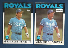 (2) 1986 TOPPS & O-PEE-CHEE ROYALS GEORGE BRETT CARD LOT #300