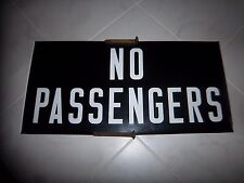 NYC BUS COLLECTIBLE RARE SIDE ROLL SIGN BROOKLYN NO PASSENGERS OLD COLLECTIBLE
