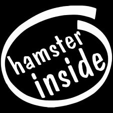 hamster inside KIA SOUL Funny Vinyl Decal Sticker Car window