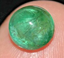 1.95 Ct Natural Green Zambia Emerald AGSL Certified Cabochon Untreated Gem