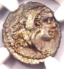 Roman Republic L. Procilius AR Denarius Serratus Coin 80 BC - NGC Choice AU