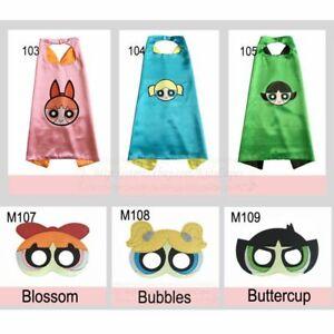 POWERPUFF GIRLS Costume Cape & Mask Set - Blossom Bubbles Buttercup