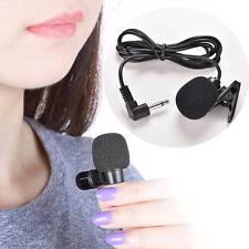 Mic 3.5mm Mini Studio Speech Microphone Clip On Lapel for PC Desktop Notebook  .