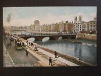 1902 Dublin Ireland Grafton Street River Liffey Illustrated Postcard Cover