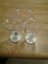 Six Home Interior Clear Swirl Lines Votive Cups