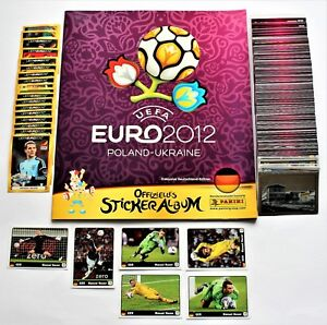 Panini EURO 2012 German Edition complete set of 560 stickers + empty album NEW