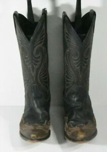 Laredo Women 6 M 05-80170 Two Tone Black Hearts and Wings Western Classic Boots